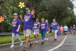 Despite a bit of misty rain, about 600 people participated in this year's South Shore Walk to End Alzheimer's. The event raised more than $81,000 for the Alzheimer's Association Gulf Coast Chapter.