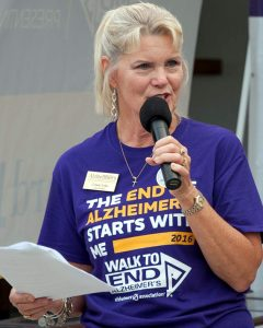 Connie Lesko, of Sundance, has organized the South Shore Walk to End Alzheimer's for the past 10 years. The cause is a personal one for her. She lost both her parents to the disease.