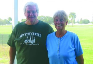 "BILL HODGES PHOTO Gene and Kathy Amb learned about SCC from friends in Michigan and Wisconsin who had been raving about what a great place it was. They are thrilled with their Minto home in Verona bordering Sandpiper Golf Course. ""Watching Verona grow from ground zero has been exciting. We are very happy with the builder, our neighbors and the community's philosophy of Neighbors Helping Neighbors,"" said Gene."