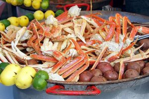Seafood will once again star at the 28th annual Ruskin Seafood Festival Nov. 5 and 6 at E. G. Simmons Park. Admission is $5 for adults; military members with IDs and children under 12 are free.