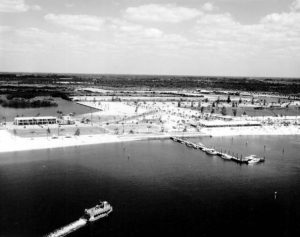 Bahia Beach as it was in 1966. This is the area where mullet boats would come ashore to meet with families for a Thanksgiving feast on the beach. FLORIDA MEMORY ARCHIVE PHOTO