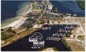 A postcard from the past: What was in 1994 known as Bahia Del Sol Marina. Things were a little different without the condos and resort.