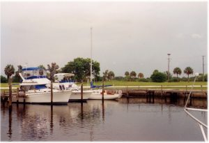 Things were a little quieter in Ruskin back in 1994. Boats, including Michelle's sailboat, at what was then Bahia Del Sol Marina. Where the palm trees once stood are now condos. Change is inevitable and it isn't all bad. Life would get boring without it. MITCH TRAPHAGEN PHOTO
