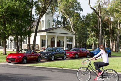 A media presentation was held in Somerset Chapel (a venue for large weddings) on the Montage Palmetto Bluff Resort property in Bluffton, S.C. Photographs © Tim Zielenbach for Mazda USA          Mazda Active Lifestyle driving event at Montage Palmetto Bluff, Bluffton, SC.