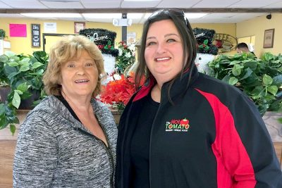 Barbara Detty, left, owner of the Kountry Kitchen, welcomes area residents to come try its menu of fresh, hearty home cooked meals. Her daughter Tina, who owns The Hot Tomato restaurant in Ruskin, has helped her mom get the new eatery off the ground. LOIS KINDLE PHOTO