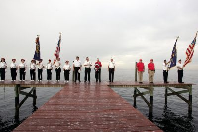 The Ruskin VFW Pearl Harbor Day ceremony at Little Harbor Resort in 2006. Some of the participants are no longer with us. MITCH TRAPHAGEN PHOTO