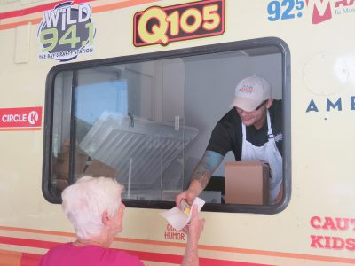 Ice cream sandwiches offered by the Q105 food truck were a crowd favorite.